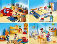 Playmobil Living Room, Master Bedroom, Children's Room and Baby Room