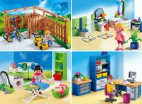 Playmobil Backyard, Family Bathroom, Laundry Room and Home Office