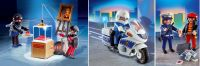 Playmobil Jewel Thieves, Police Motorbike and Police with Thief set