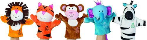 Manhattan Toy Jungle Snugglies - Louis Lion, Todd Tiger, Milo Monkey, Eric Elephant and Zeke Zebra
