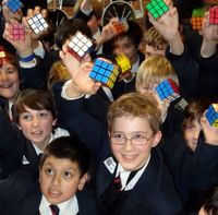 British schoolboys land Rubik's record