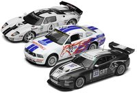 Scalextric Ford GT Gran Turismo, Ford Mustang FR500C and Jaguar XKRS