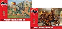 Airfix Australian and Russian soldiers