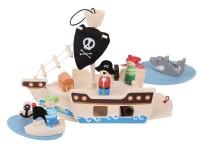 Bigjigs Mini Pirate Ship Playset