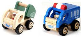 Mini police car and dumper truck